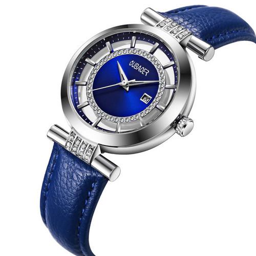 Đồng hồ Nữ OUBAOER Romance – Dây da thật cao cấp - Thời trang pháp