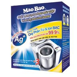[QUÀ ĐỈNH 0Đ] Vệ Sinh Máy Giặt Mao Bao Dạng Bột Chứa Ion Bạc 306g x3 - cho 3 lần vệ sinh - Tặng Bột tẩy bình đun nước