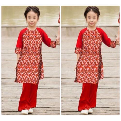 Set áo dài cách tân hoa nhí kèm quần cho bé - 6487492 , 13125967 , 15_13125967 , 379000 , Set-ao-dai-cach-tan-hoa-nhi-kem-quan-cho-be-15_13125967 , sendo.vn , Set áo dài cách tân hoa nhí kèm quần cho bé