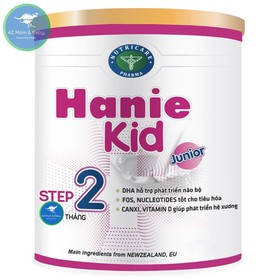 Sữa bột Hanie Kid 2 dành cho trẻ biếng ăn suy dinh dưỡng KL 400g - SUA037AZN
