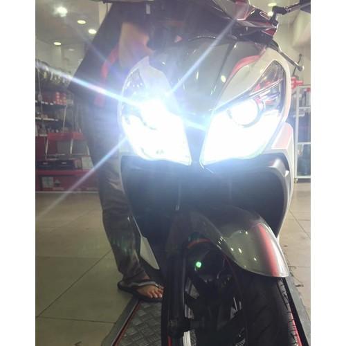 Đèn Led pha sáng trắng gắn cho nhiều loại xe sử dụng bóng 3 chân H4 hay HS1
