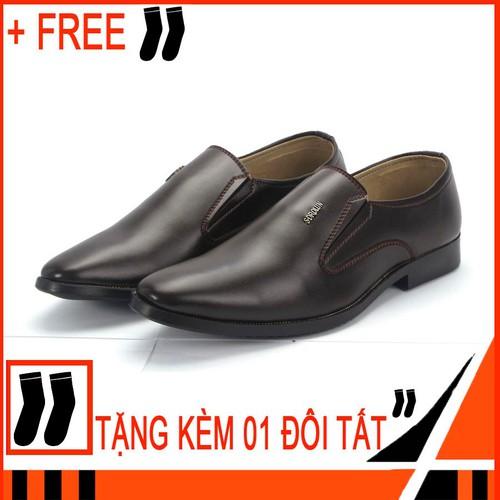 Giày tây nam Tronshop TS308 Free 1 đôi vớ giày nam công sở