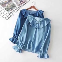 áo denim tay dài dễ thương top414