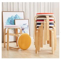 ghế bàn ăn đệm vải Canvas chân gỗ MS13 tháo lắp ráp