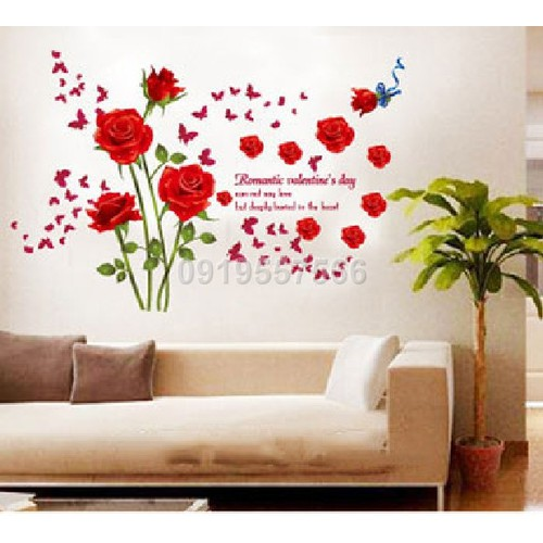 Decal hoa hồng A610