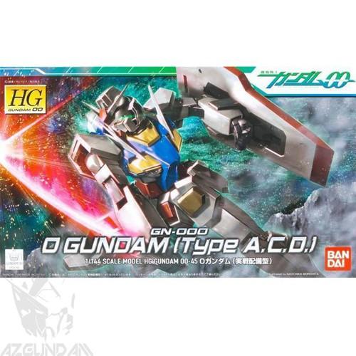 Đồ chơi mô hình lắp ráp Gundam Bandai HG 00 45 GN-000 00 Gundam Type A.C.D