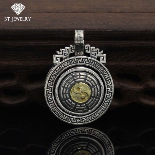 [FREESHIP 99K] Mặt Dây Chuyền Bát Quái Tròn Xoay - BT JEWELRY