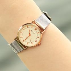 Đồng hồ nữ KEVIN KV01 dây thép lưới khoá cài sang trọng