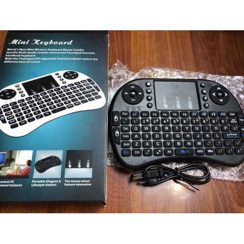 Bàn phím mini keyboard kiêm chuột không dây
