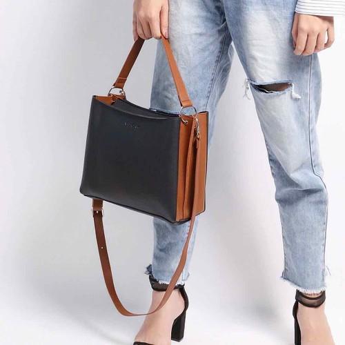 Túi nữ dáng vuông - Mầu xanh đen