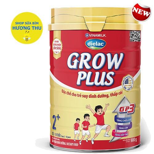 Sữa bột Vinamilk Dielac Grow Plus 2+ Lon Đỏ 900g cho bé từ 2-10 tuổi