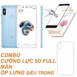 Xiaomi Redmi Note 5 Pro 32GB Ram 3GB Xanh+Cường lực+Ốp -Hàng nhập khẩu - Note 5 pro 32 Xanh+Ốp kính