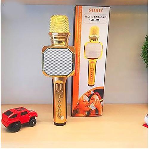 Mic Karaoke SD10 Kèm Loa Kết Nối Bluetooth Hàng Chuẩn