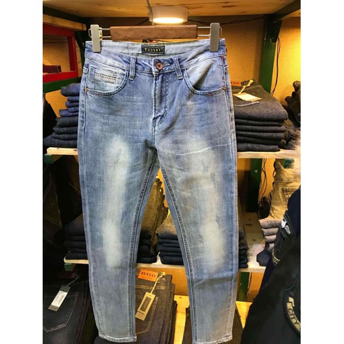 Quần jeans nam ống côn slimfit cao cấp