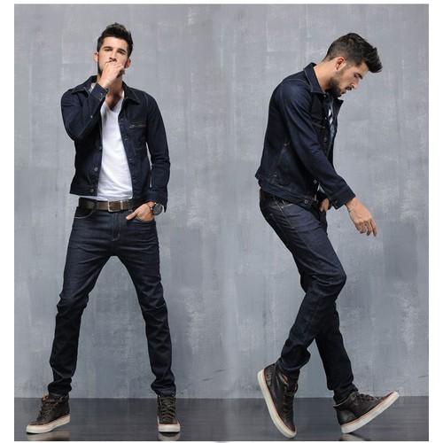Quần Jean Nam Slim Fit Stretch Black
