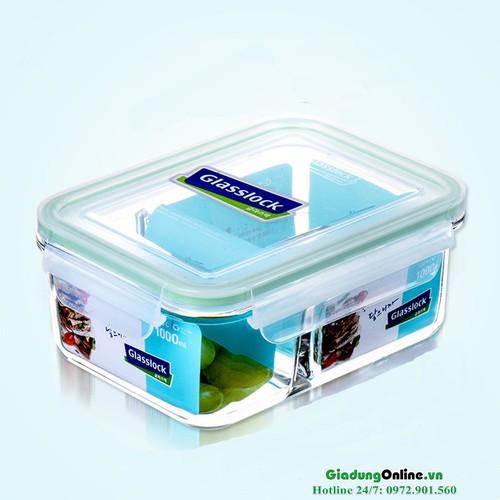 Hộp thủy tinh chia ngăn Glasslock MCRK100 1000ml - 6841611 , 13555440 , 15_13555440 , 310000 , Hop-thuy-tinh-chia-ngan-Glasslock-MCRK100-1000ml-15_13555440 , sendo.vn , Hộp thủy tinh chia ngăn Glasslock MCRK100 1000ml