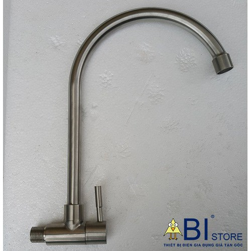 Vòi Rửa Bát inox 304 cắm tường cần cứng giá rẻ hà nội