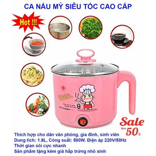 Nồi Nấu Ca Điện Nấu Mì Mini Đa Năng Siêu Tốc 2 Lớp 18 Cm - 6521457 , 13169400 , 15_13169400 , 184800 , Noi-Nau-Ca-Dien-Nau-Mi-Mini-Da-Nang-Sieu-Toc-2-Lop-18-Cm-15_13169400 , sendo.vn , Nồi Nấu Ca Điện Nấu Mì Mini Đa Năng Siêu Tốc 2 Lớp 18 Cm
