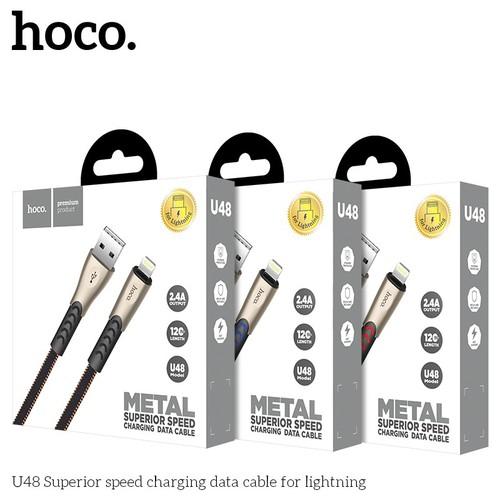 Cáp sạc Iphone Hoco U48