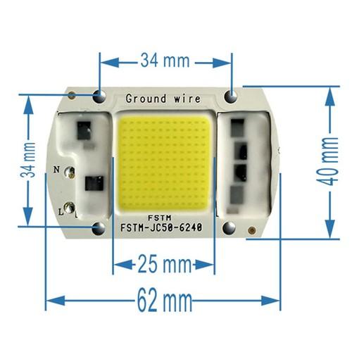 Nhân Pha LED 50w 220v COB sáng Vàng Nắng 4000K-4500K