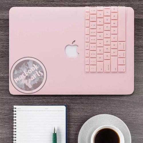 Combo Ốp Và Phủ Phím Macbook 13 Pro Ổ Đĩa - Màu Hồng Pastel