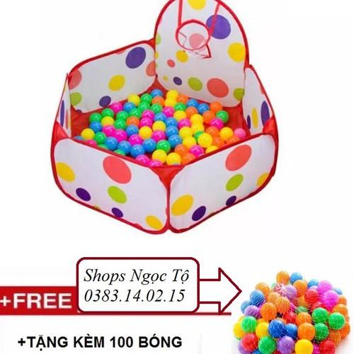 Lều bóng chấm bi cho bé kèm 100 bóng - 6113710 , 12650818 , 15_12650818 , 199000 , Leu-bong-cham-bi-cho-be-kem-100-bong-15_12650818 , sendo.vn , Lều bóng chấm bi cho bé kèm 100 bóng