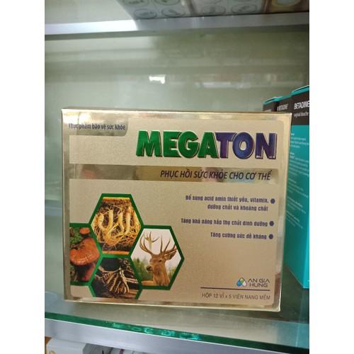 Megaton phục hồi sức khỏe cho cơ thể hộp 12 vỉ x 5 viên - 6106418 , 12638573 , 15_12638573 , 150000 , Megaton-phuc-hoi-suc-khoe-cho-co-the-hop-12-vi-x-5-vien-15_12638573 , sendo.vn , Megaton phục hồi sức khỏe cho cơ thể hộp 12 vỉ x 5 viên