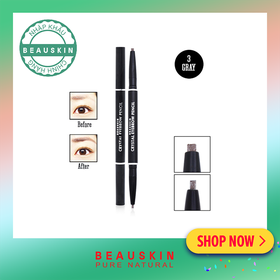 Chì kẻ mày 2 đầu Beauskin Eyebrow Crystal Eyebrow Pencil #03 - BH203