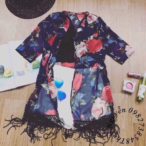 Kimono hoa cao cấp đi biển