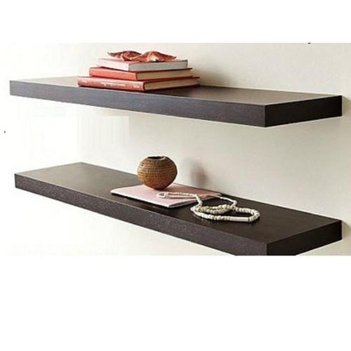 kệ trang trí treo tường 2 thanh ngang đen 40,60cmx15cm