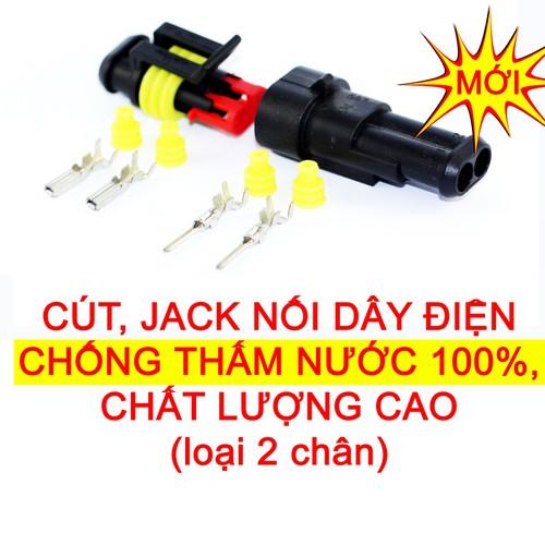 [HÀNG MỚI VỀ] Đầu cút jack giắc nối dây điện 2 chân chống nước dùng cho xe máy xe hơi ô tô - 6548514 , 13202891 , 15_13202891 , 15000 , HANG-MOI-VE-Dau-cut-jack-giac-noi-day-dien-2-chan-chong-nuoc-dung-cho-xe-may-xe-hoi-o-to-15_13202891 , sendo.vn , [HÀNG MỚI VỀ] Đầu cút jack giắc nối dây điện 2 chân chống nước dùng cho xe máy xe hơi ô tô