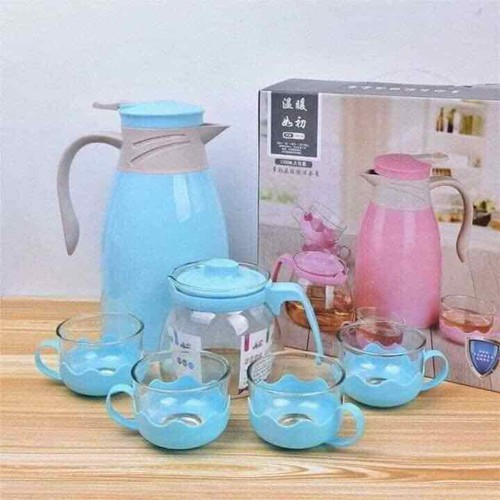 Bộ bình giữ nhiệt ,pha trà kèm 4 ly cao cấp