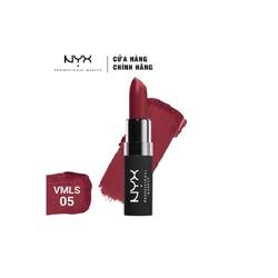 Son lì NYX Velvet Matte Lipstick Volcano màu đỏ nâu quyến rũ