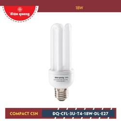 Đèn Compact Điện Quang ĐQ-CFL-3U-T4-18W-DL-E27