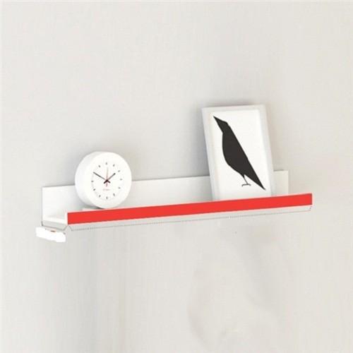 kệ trang trí treo tường 1  thanh ngang đỏ dài 80x15cm
