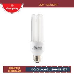 Đèn Compact Chống Ẩm Điện Quang ĐQ-CFL-AW-3U-20W-DL-E27