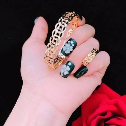 Set vòng tay size 52 - nhẫn kim tiền size 6