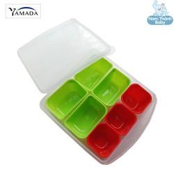 Khay trữ đồ ăn dặm 7 ngăn có nắp đậy Yamada Nhật Bản - 053A