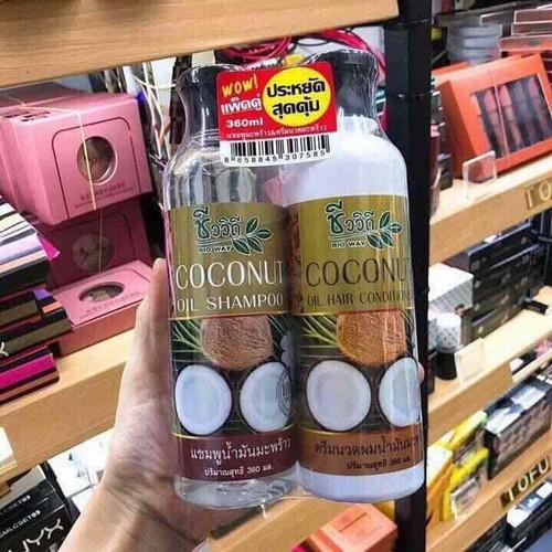 Bộ dầu gội và xả tinh dầu dừa Thái Lan