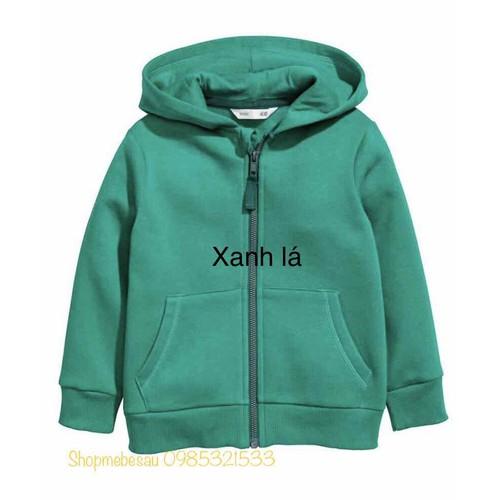 Áo khoác nỉ bé trai bé gái H-M - màu xanh lá