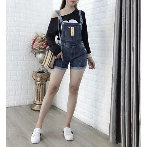 Quần yếm short jean cute