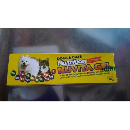 Nuvita gel - kem bổ sung vitamin, khoáng chất cho thú cưng