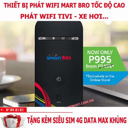 Bộ Phát Wifi Di Động Smart Bro, Phát Wifi Cho Ti vi, Oto