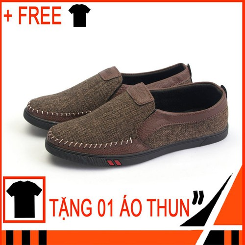 Giày lười nam TS214 Tặng 1 áo thun nam co giãn