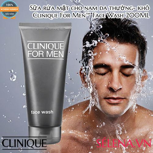 SỮA RỬA MẶT CHO NAM DA THƯỜNG- KHÔ CLINIQUE_ FOR MEN FACE WASH 200ML