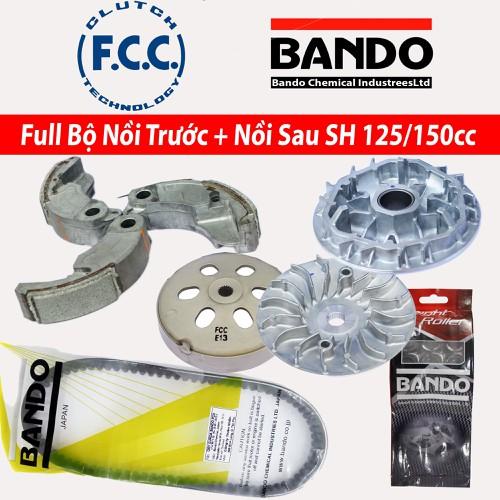 Full Bộ nồi trước và Nồi Sau Honda SH 125 150 Việt Nam  Bando  FCC