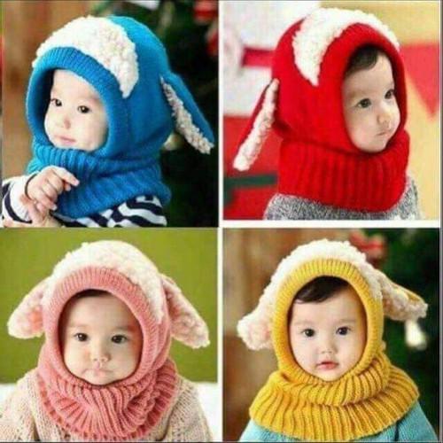 mũ len lông cừu cho bé cao cấp
