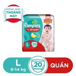 Tã Quần Pampers Baby Dry size L 20 miếng 9-14kg