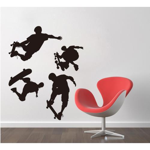 Decal trang trí tường Trượt PATIN đen