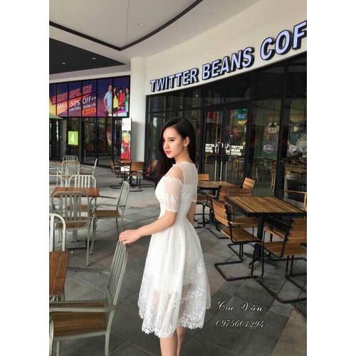 đầm nữ dáng xòe phối lưới thời trang mẫu mới - 6143418 , 12689152 , 15_12689152 , 110000 , dam-nu-dang-xoe-phoi-luoi-thoi-trang-mau-moi-15_12689152 , sendo.vn , đầm nữ dáng xòe phối lưới thời trang mẫu mới